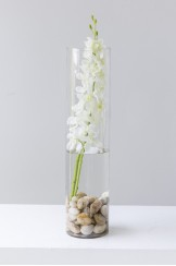 CIlindro Cristal Zen Orquidea Artificial