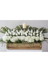 Jardinera Bambu Funebre con Velon