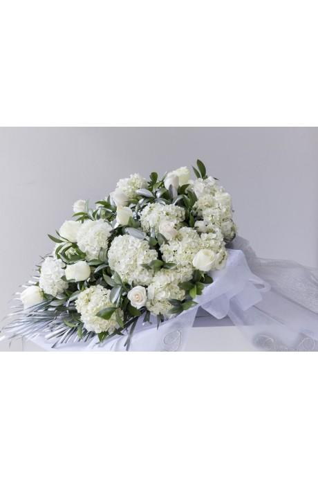 Ramillete Funebre Hortencias y Rosas