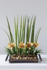 Guadua Canoa Orquidea Artificial Recta