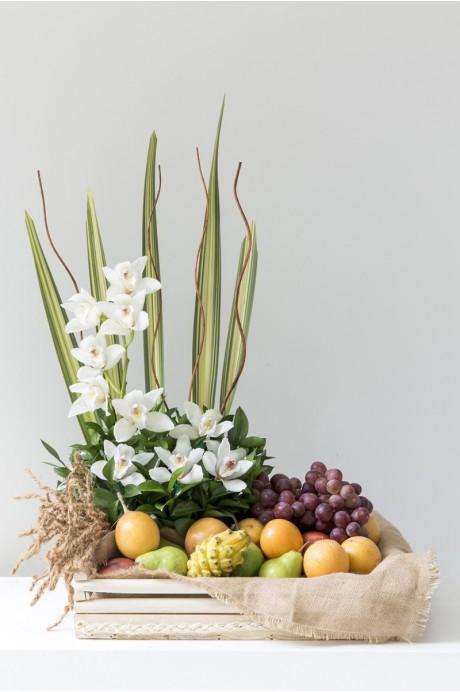 Azafata Frutas, Orquideas y Arabescos